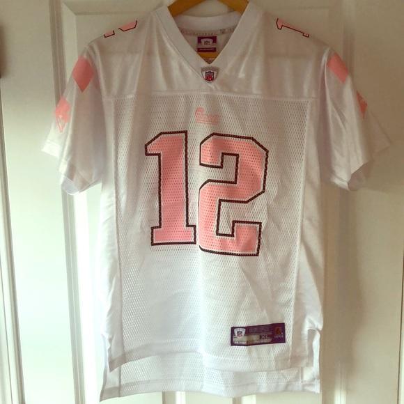 uk availability b1083 975a6 New England Patriots Jersey - Tom Brady - Pink